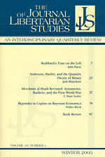 Journal of Libertarian Studies