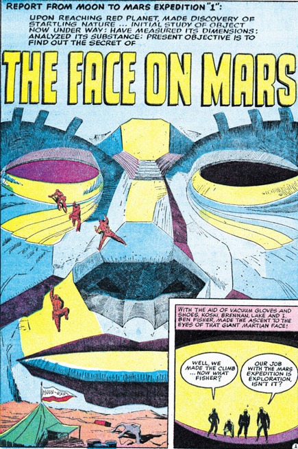 Jack Kirby - The Face on Mars