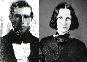 Joseph Smith, founder of Mormonism, and Mary Baker Eddy, founder of Christian Science