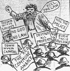 Anti-anarchist Political Cartoon