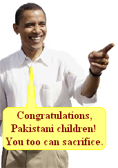 Congratulations, Pakistani children!  You too can sacrifice