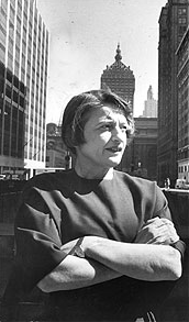 Ayn Rand on the roof