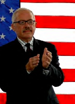Bob Barr likes him some giant flag