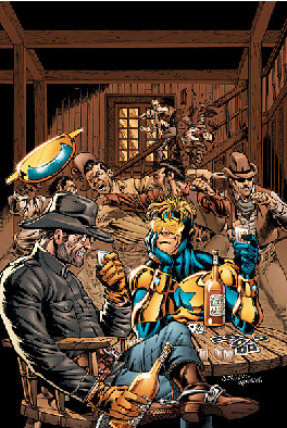 Booster Gold meets Jonah Hex