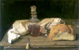 painting of bread