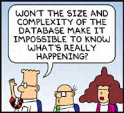 Won't the size and complexity of the database make it impossible to know what's really happening?