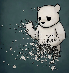 disintegrating bear