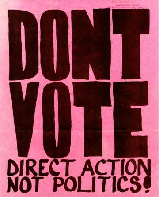 DON'T VOTE - Direct Action, Not Politics!