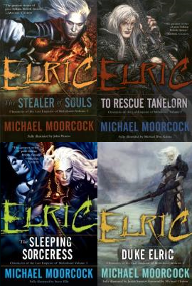 covers for Del Rey's first four Elric books