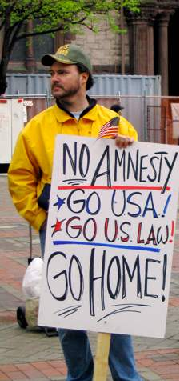 NO AMNESTY - GO U.S.A.! - GO U.S. LAW! - GO HOME!