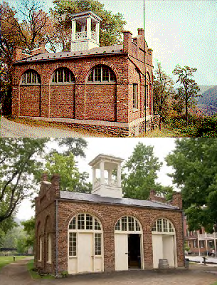 Harpers Ferry engine house in 2 locations