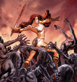 the impractically clad Red Sonja