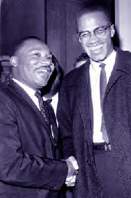 M. L. King and Malcolm X
