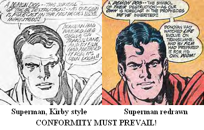 Superman, Kirby style - Superman, redrawn - Conformity must prevail!