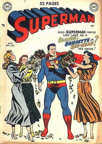 Does Superman prefer Lois Lane as a blonde, brunette, or red-head?  See inside!