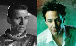 Michael Rennie and Keanu Reeves
