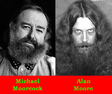 Mike's beard is bushy but Alan's is Moore so
