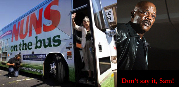 Nuns on the Bus - Don't say it, Sam!