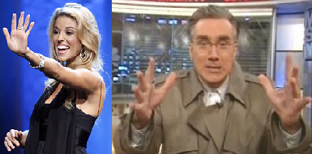 Carrie Prejean and Keith Olbermann