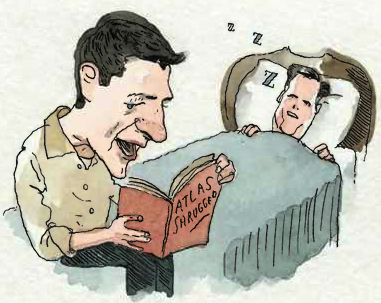 Paul Ryan reading Atlas Shrugged to Mitt Romney