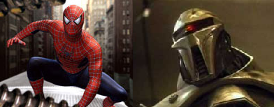 Spider-man and a Cylon