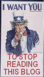 UNCLE SAM WANTS YOU to stop reading this blog
